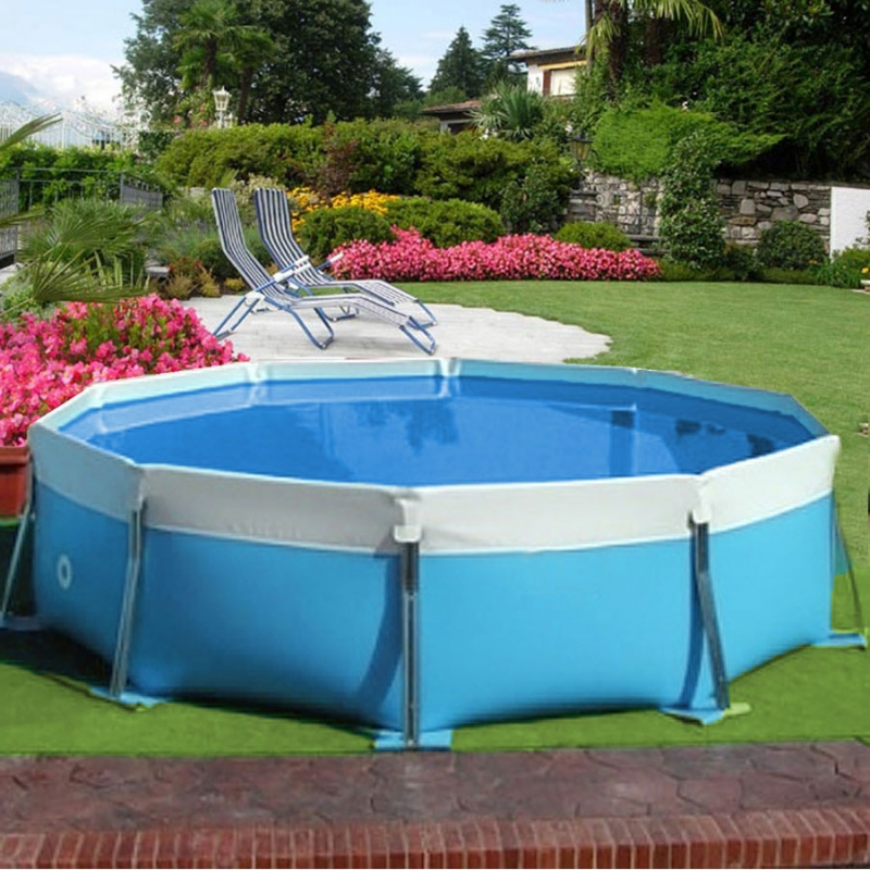 Round water piscina fuori terra in pvc ladivinapiscina - Piscine rettangolari fuori terra ...