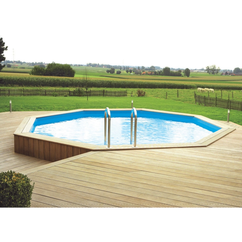 Ocea 39 pool ronde piscina fuori terra in legno for Piani fuoriterra fuori terra
