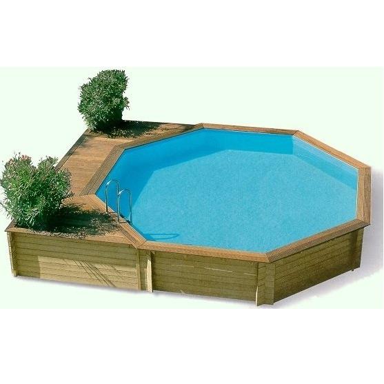 Ocea 39 pool ronde piscina fuori terra in legno for Piscina esterna legno