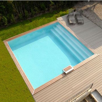 Ocea 39 pool carree piscina fuori terra in legno for Piscina esterna legno
