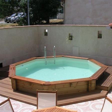 wood line atoll piscina fuori terra in legno