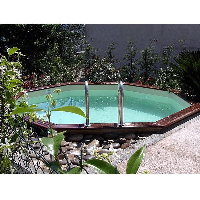 Wood line atoll piscina fuori terra in legno for Piscine in terra