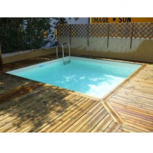 Wood line bahia piscina fuori terra in legno - Piscina fuori terra quadrata ...