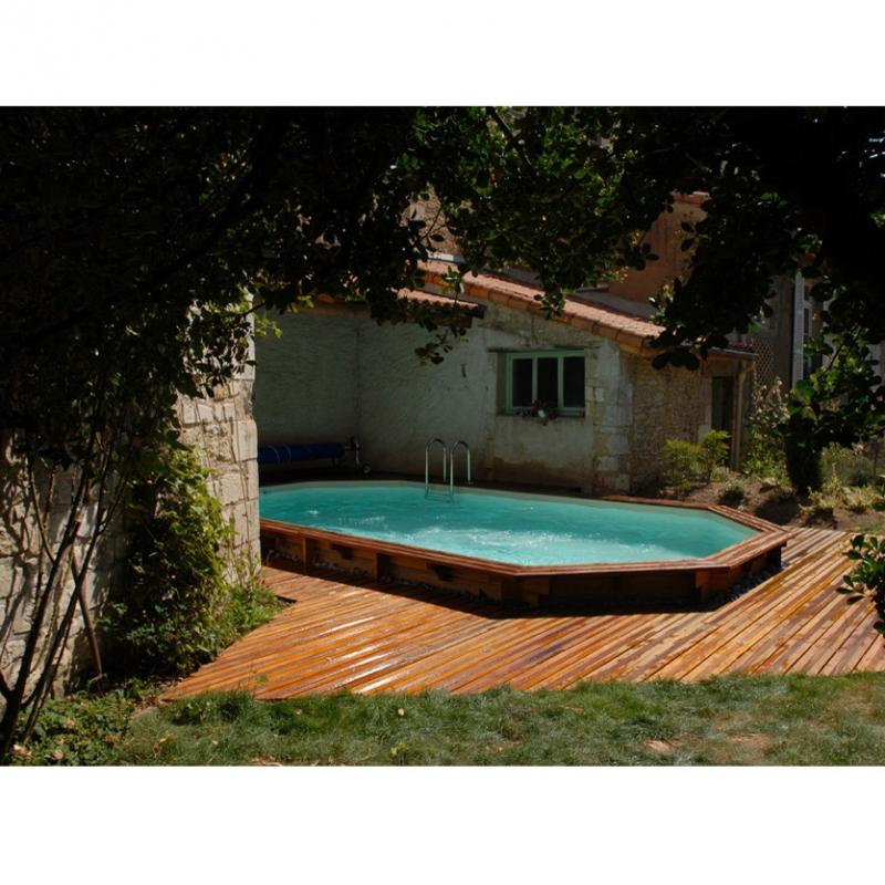 Wood line longhi piscina fuori terra in legno - Piscina fuori terra quadrata ...