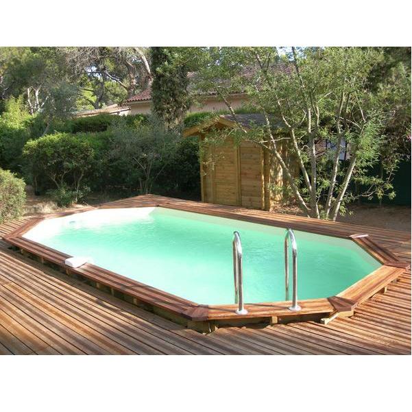 Wood line longhi piscina fuori terra in legno - Piscina interrata piccola ...