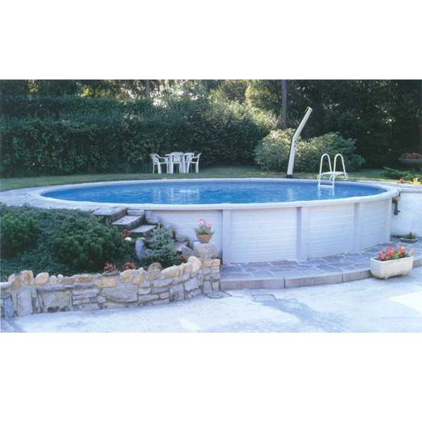 Atrium tonda piscina fuori terra in resina e acciaio - Piscine in acciaio fuori terra ...