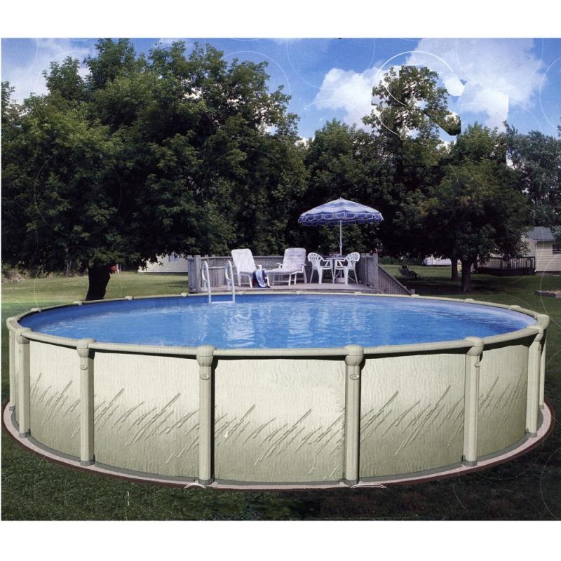 atrium tonda piscina fuori terra in resina e acciaio