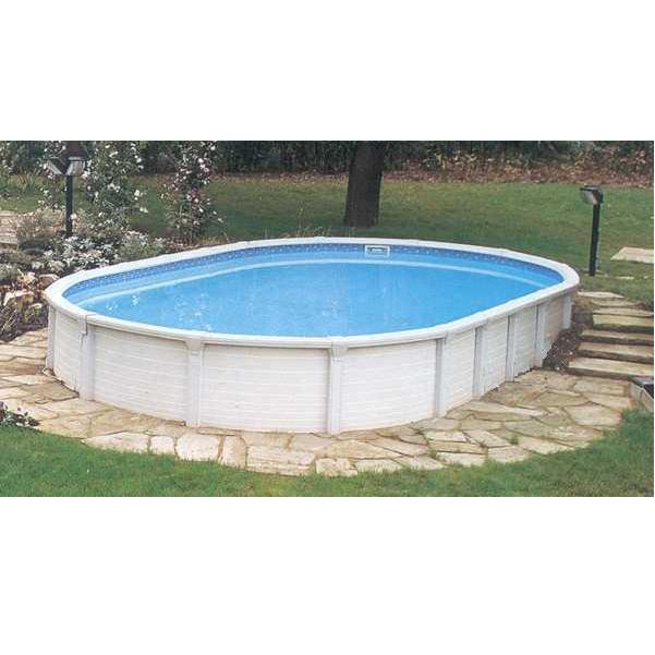atrium ovale piscina fuori terra in resina e acciaio