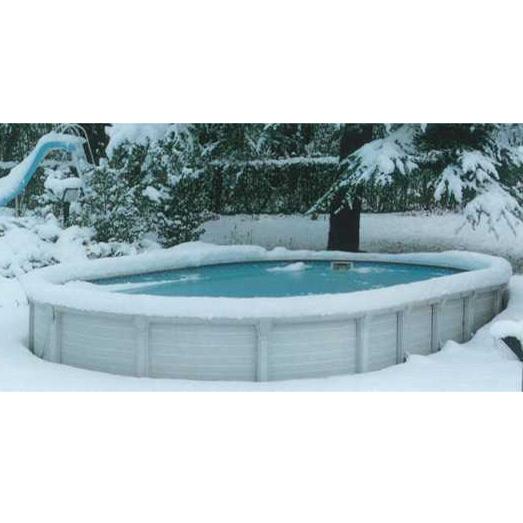 Atrium ovale piscina fuori terra in resina e acciaio for Bordi per piscina prezzi
