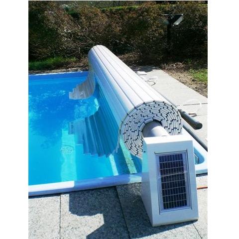 Aquamatic a profili rigidi ags con solar kit copertura a for Blocchi per tapparelle