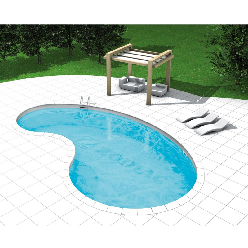 Piscina a skimmer forma libera piscina interrata in - Piscine interrate in acciaio ...