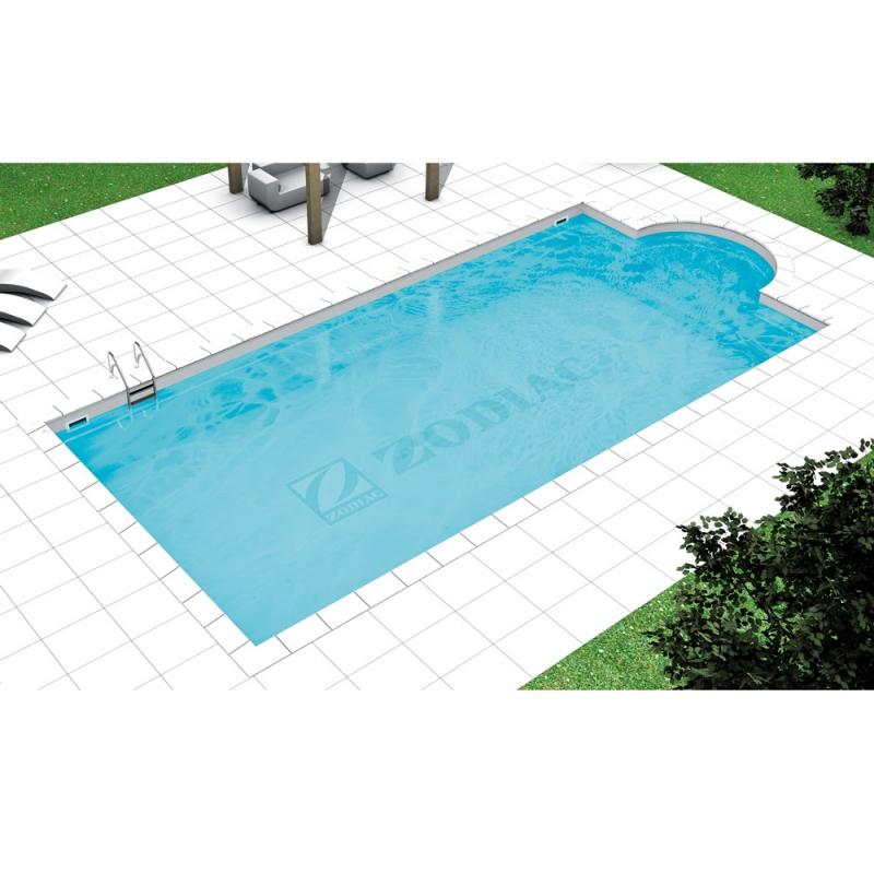 Piscina a skimmer con scala romana raggio 1 50 piscina - Piscina acciaio ...