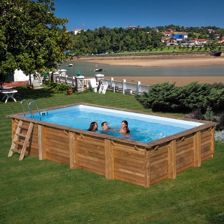 Wooden pool rettangolare piscina fuori terra in legno - Piscina fuori terra ...
