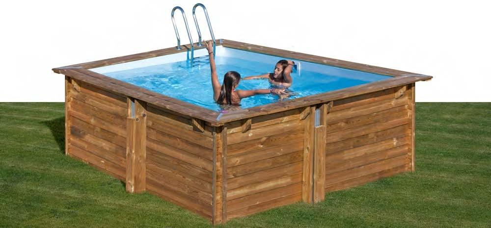 Wooden pool quadrata piscina fuori terra in legno ladivinapiscina - Piscina fuori terra quadrata ...