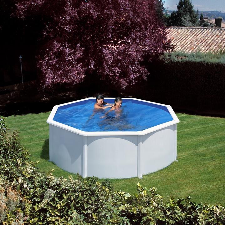 Dream pool fidji piscine fuori terra tonde e ovali in acciaio e pvc ladivinapiscina - Piscine in acciaio fuori terra ...
