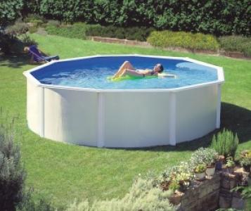 Dream pool atlantis piscine fuori terra tonde e ovali in acciaio e pvc ladivinapiscina - Piscine in acciaio fuori terra ...