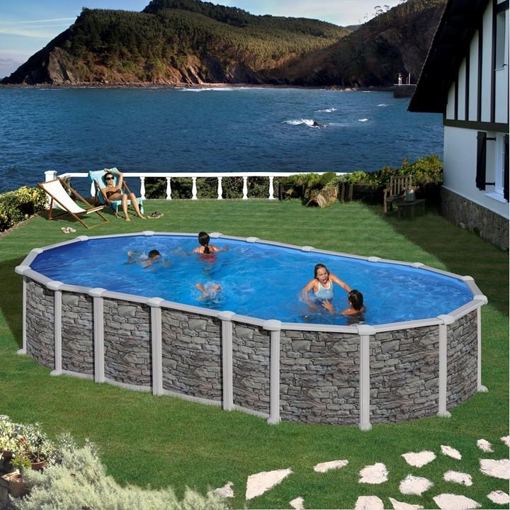 Dream Pool Santorini Piscine Fuori Terra Ovali In Acciaio E Pvc