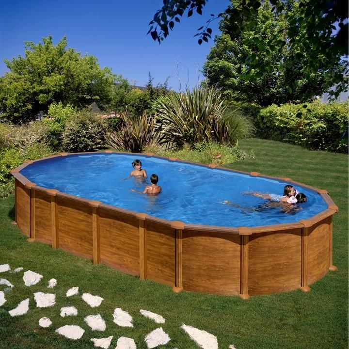 Dream Pool Amazonia Piscina Fuori Terra Ovale In Acciaio E Pvc