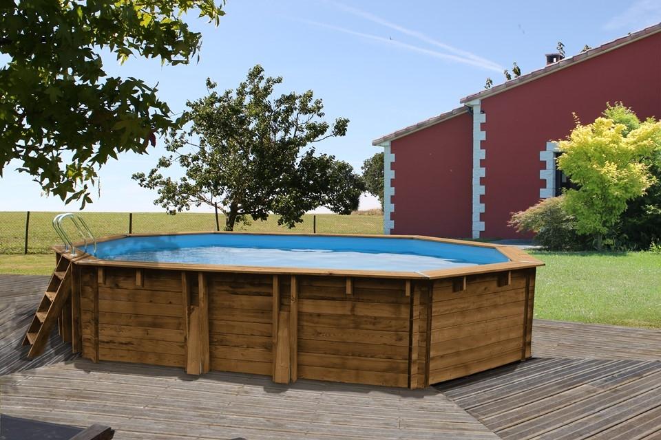 Wooden Pool Ottagonale Piscina Fuori Terra In Legno Ladivinapiscina