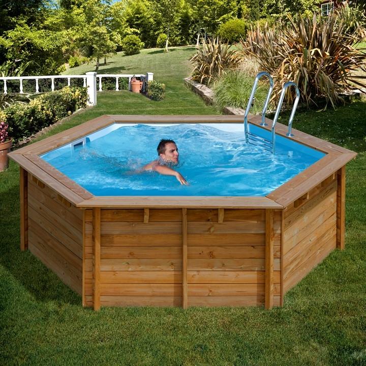 Wooden Pool Tonda Piscina Fuori Terra In Legno Ladivinapiscina