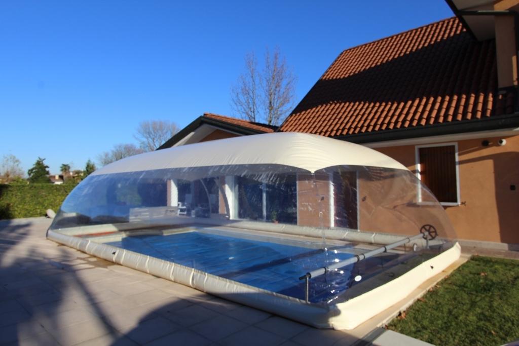 Cristalball cupola gonfiabile per piscina ladivinapiscina for Piscina fuori terra 4x8 prezzo